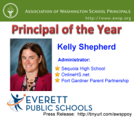 Kelly Shepherd OnlineHS.net Administrator Named Region's Principal of the Year